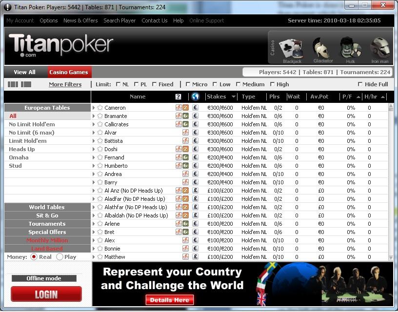 Titan Pokerscreenshot thumbnail