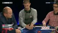 Gus Hansen put all in and clock called upon in EPT Vienna