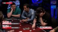 Phil Hellmuth hits gutshot against Alec Torelli in Poker Night in America