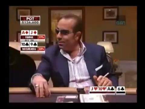 Farha and Negreanu Gambling on the River