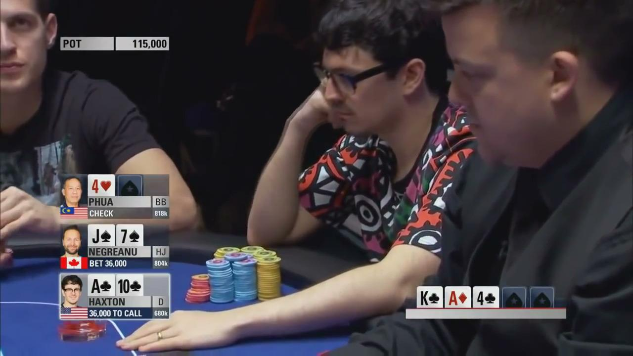2015 PCA -  Negreanu bluffs Haxton