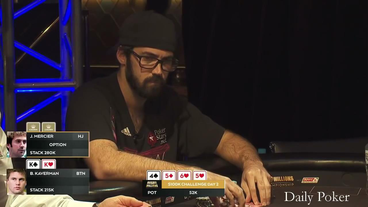 2016 Aussie Millions - Mercier Involved In a Big Hand In the $100k Challenge