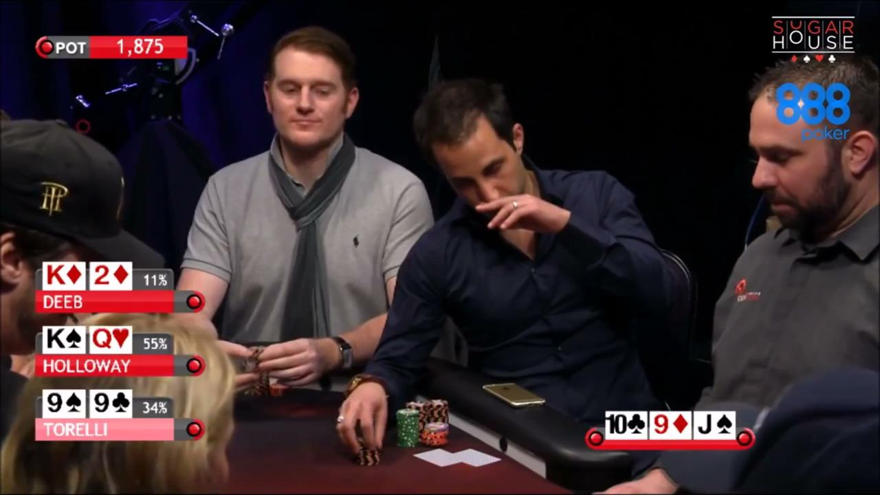 Alec Torelli vs Holloway: Poker Night In America Hand