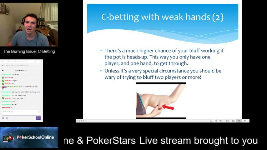 Continuation Betting in Poker - PSO Webinar