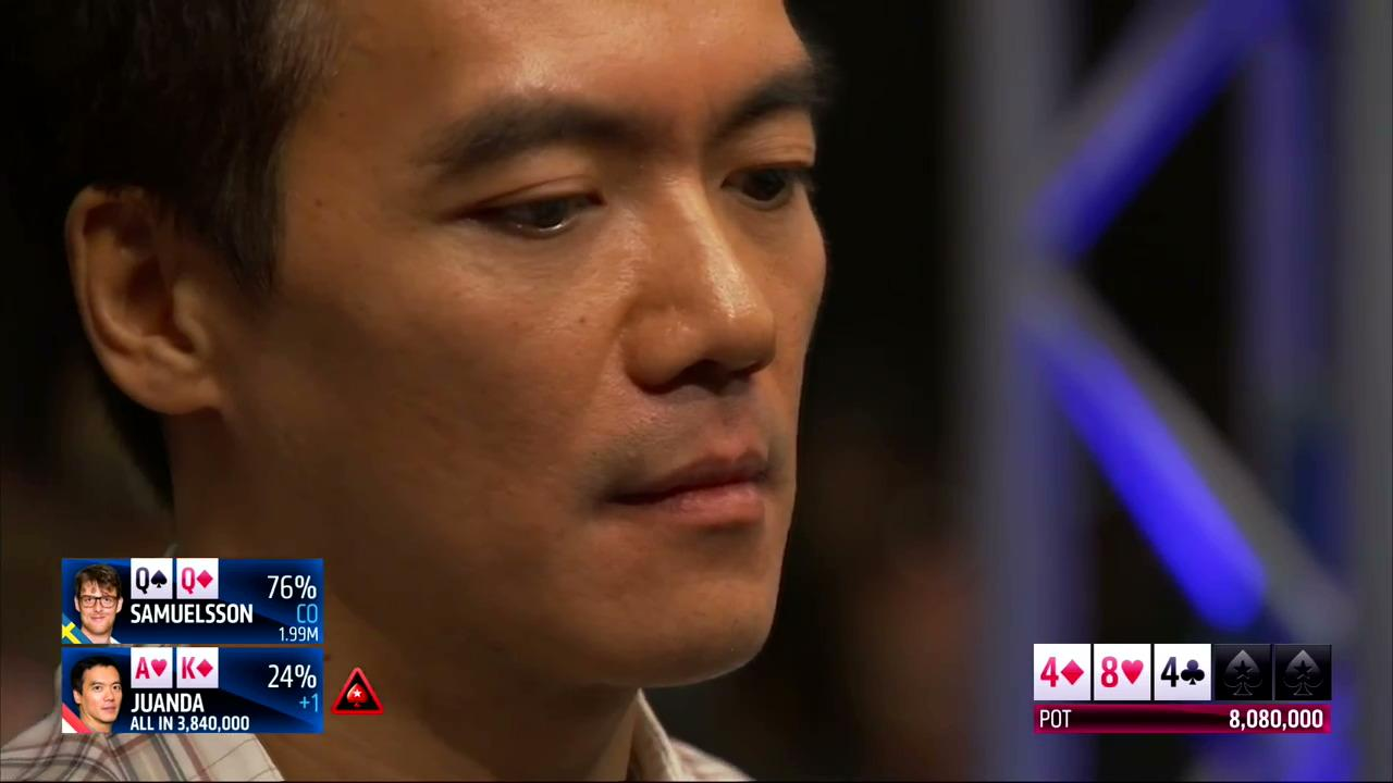 Juanda hits an ace on the river EPT Barcelona