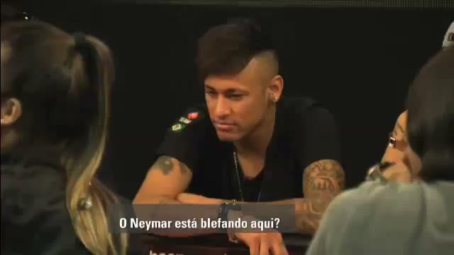 Neymar Jr's got Poker Skills!