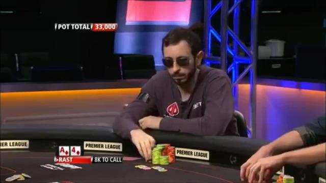 Premier League - Rast Bluffs All-In Against Duhamel