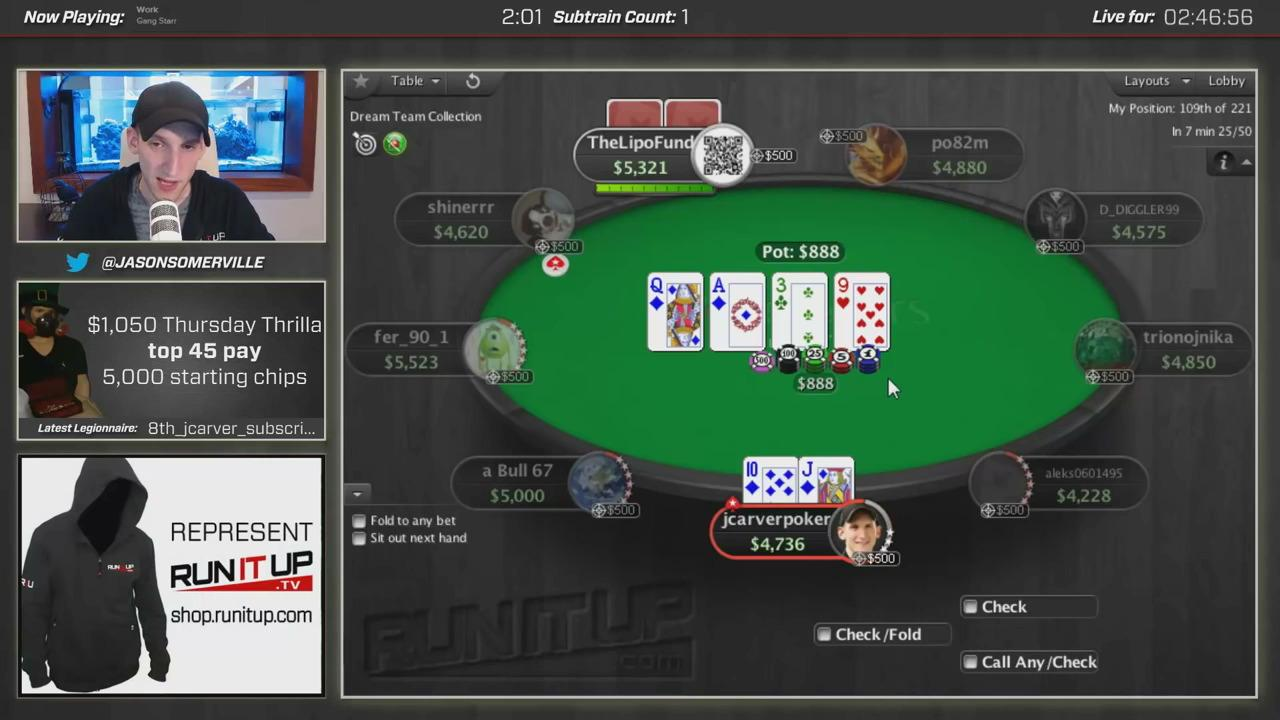 Royal Flush in the Thurday Thrill! - Runitup.tv