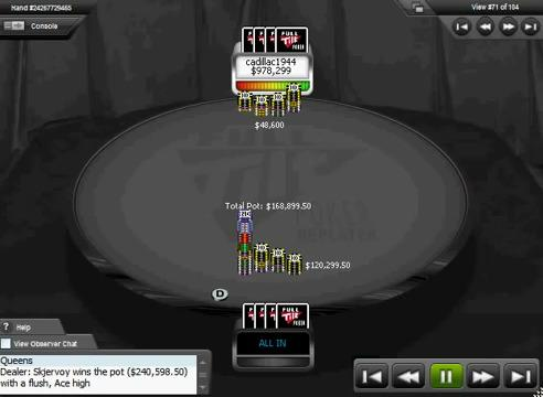 skjervoy vs. cadillac1944 $240K Pot