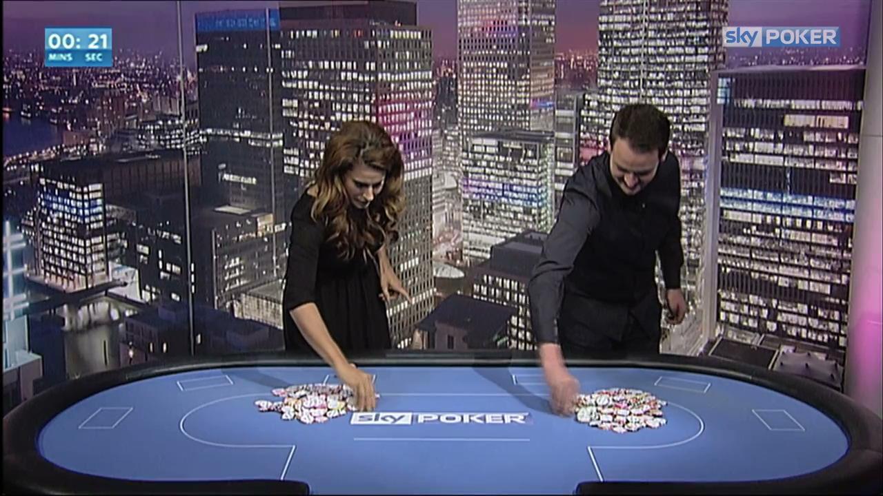 Sky Poker Chip Stack Challenge - Anna Fowler vs Stuart Rutter