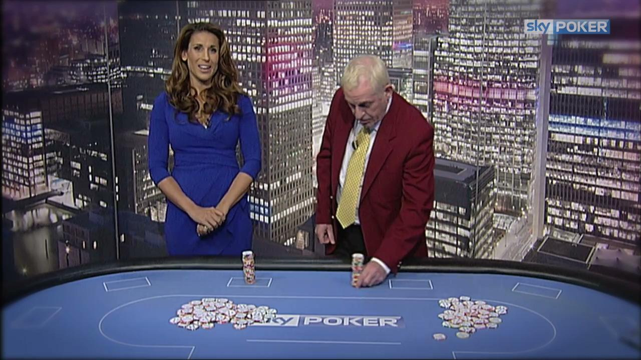 Sky Poker Chip Stack Challenge - Anna Fowler vs  'Tikay'