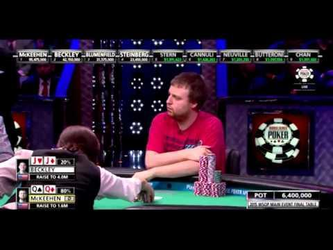 WSOP ME 2015 - Josh Beckley JJ vs Joe McKeehen QQ