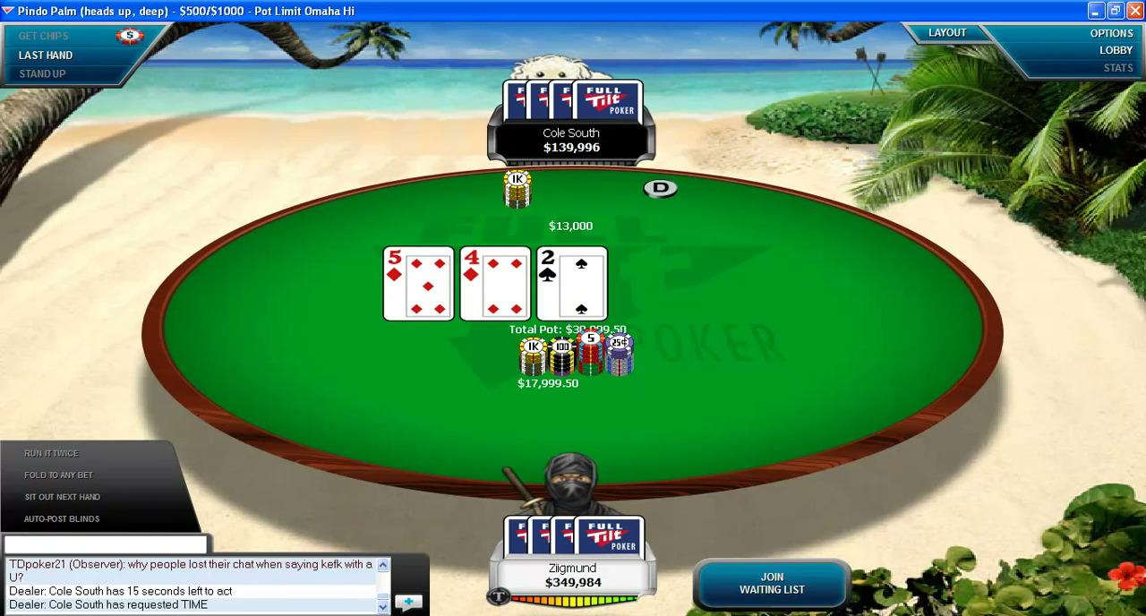 Ziigmund vs Cole South - Heads-up High Stakes Online Poker