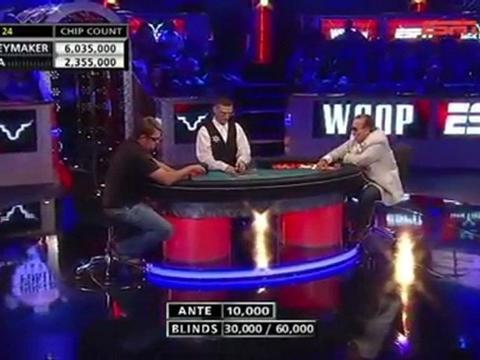WSOP 2011 Grudge match 2 - Chris Moneymaker Vs Sammy Farha - Part 3/13