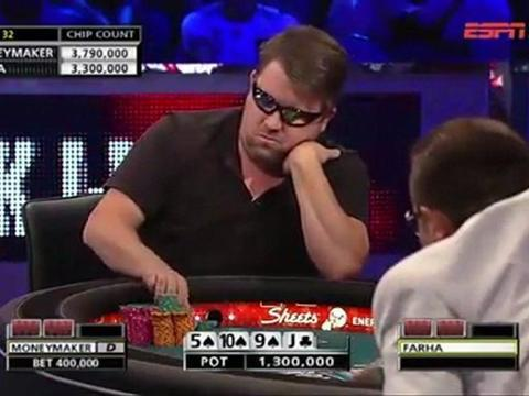 WSOP 2011 Grudge match 2 - Chris Moneymaker Vs Sammy Farha - Part 4/13